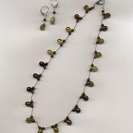 Sold - Available to Order - Green Garnet Briolette