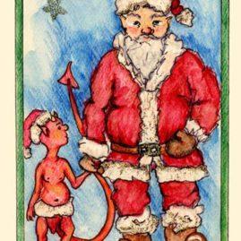 Santa and the Devil Elf - DX-A03 $4