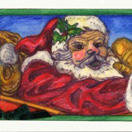 Holly Jolly Santa - IDX90 $4
